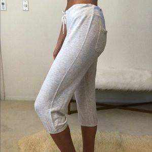 Monrow super soft cropped sweatpants